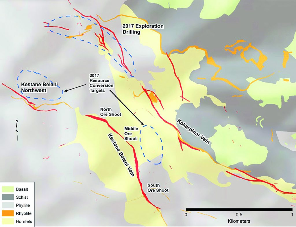 Geological map of the Efemcukuru project