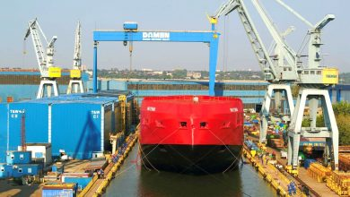 Damen-performs-float-out-of-Australian-icebreaker