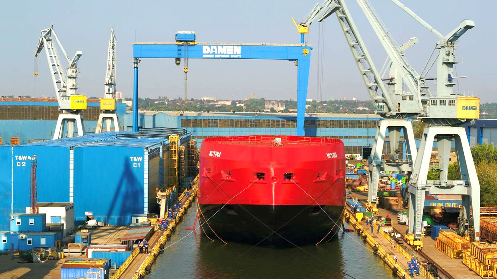 Damen Performs Float Out Of Australian Icebreaker Rsv Nuyina