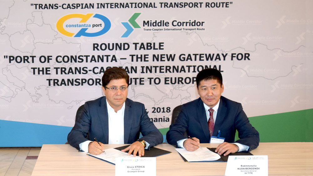 First European company to join the Trans-Caspian