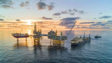 Photo of Norway's largest oil pipeline now in place