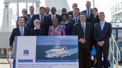 Photo of Damen shipyards Galati hands over 74-metre fishery research vessel to Angolan government