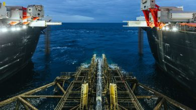 Photo of TurkStream gas pipeline's offshore section completed