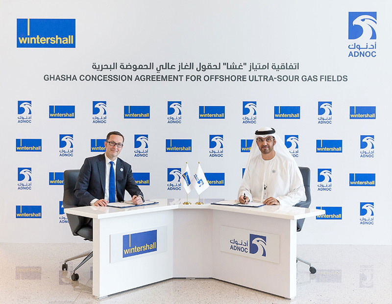 The-concession-agreement-was-signed-by-His-Excellency-Dr.-Sultan-Ahmed-Al-Jaber,-UAE-Minister-of-State-and-ADNOC-Group-CEO,-and-Mario-Mehren,-CEO-of-Wintershall.