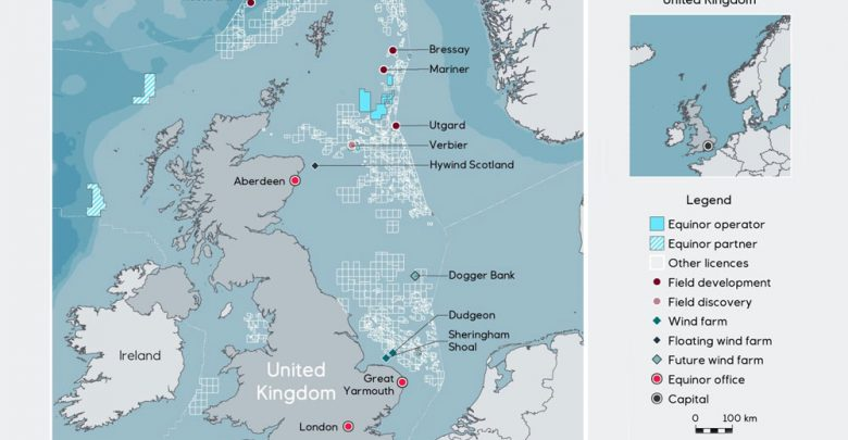 Map Of Uk Oil Fields.A New Era For Equinor On The Ukcs