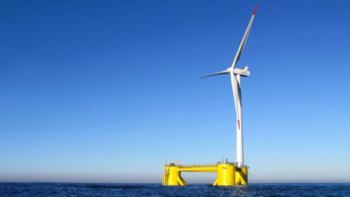 Photo of Total's First Floating Offshore Wind Project in the UK