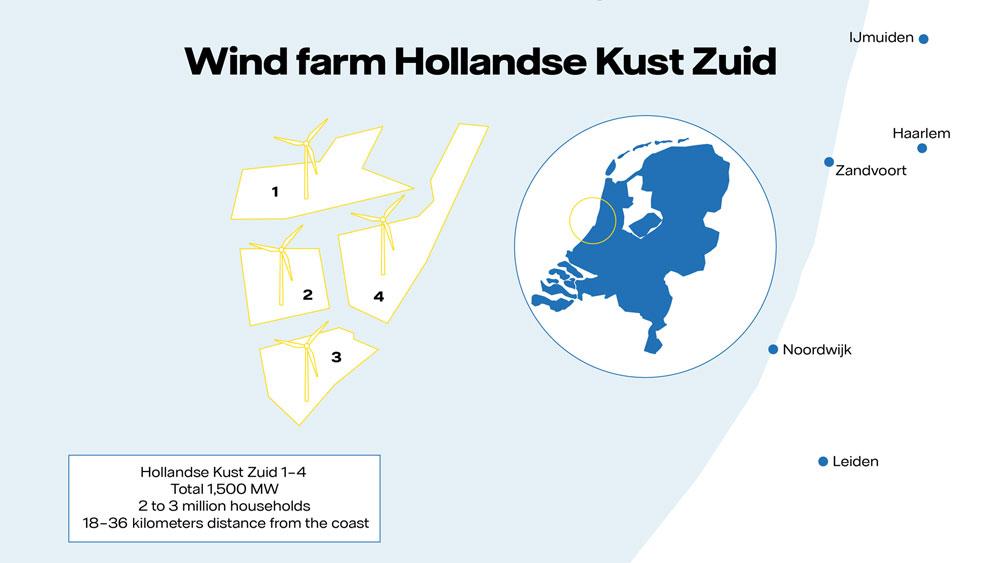 Hollandse Kust Zuid map