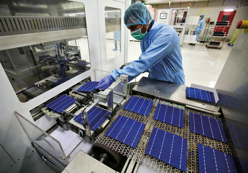 The COVID-19 outbreak has already slowed Chinese production of solar panels and materials, delaying projects in countries including India and Australi