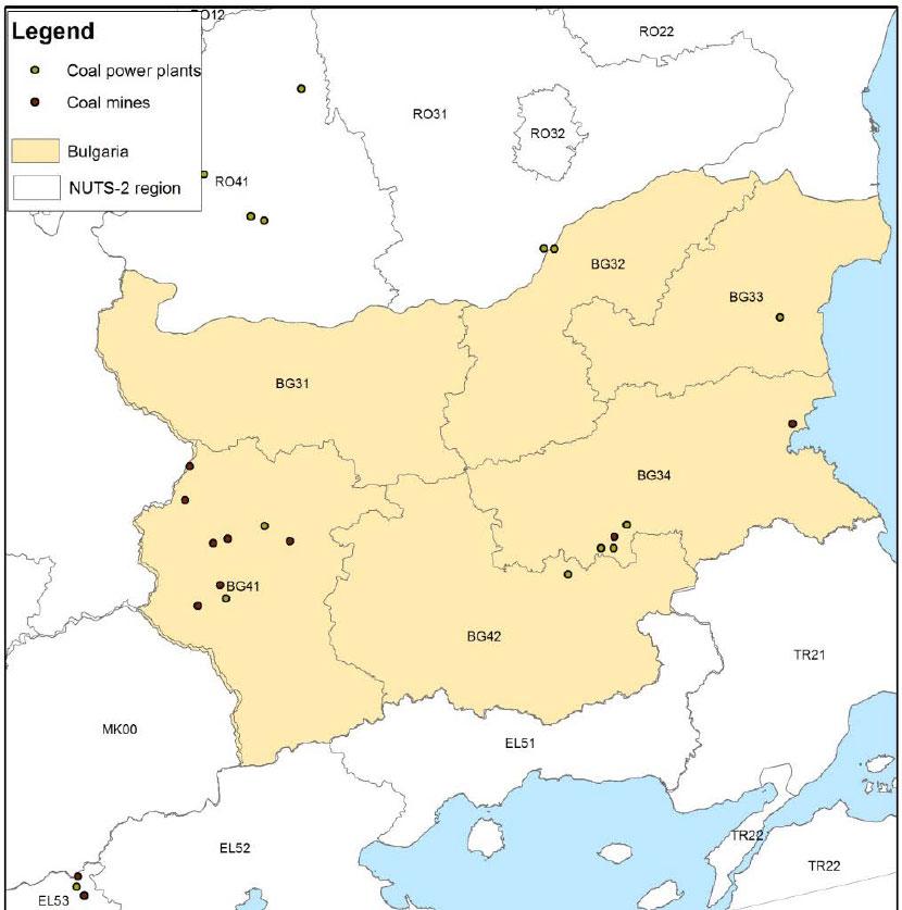 Bulgaria-coal-map