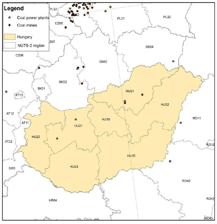 Hungary-coal-map